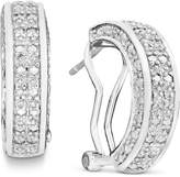 Townsend Victoria Rose-Cut Diamond Hoop Earrings in 18k Gold over Sterling Silver or Sterling Silver (1/2 ct. t.w.)