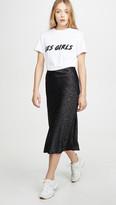 re:named apparel Re:Named Leopard Jacquard Midi Skirt