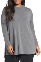 Eileen Fisher Stretch Tencel ® Lyocell Jersey Tunic (Plus Size)