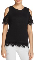 Generation Love Cold Shoulder Lace Tee