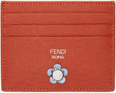 Fendi Red Flowerland Card Holder