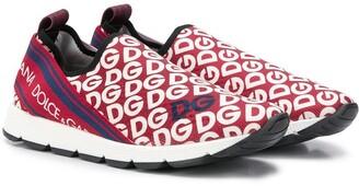 Dolce & Gabbana Kids Logo Slip-On Sneakers