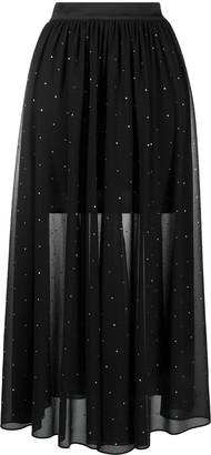 Patrizia Pepe Stud Embellished High-Waisted Skirt