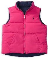 Ralph Lauren Girls' Reversible Down Vest - Sizes 2-6X