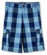 Cherokee Boys' Cargo Shorts ; - Blue Check