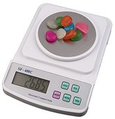 SODIAL(R) Electronic Digital LCD Scale 500g x 0.01g Precision Weighing Counting White