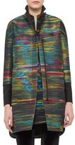Akris Punto Jacquard Zip-Front Coat, Northern Lights