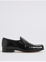 M&S Collection Leather Slip-on Weave Print Loafers