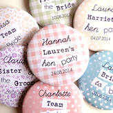 Peardrop Avenue Personalised Hen Party Badges