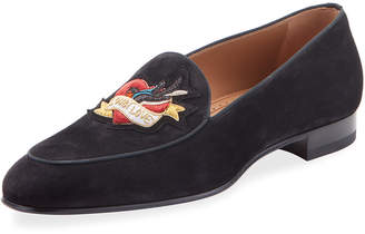 Christian Louboutin Men's Love on the Nile Suede Formal Loafers