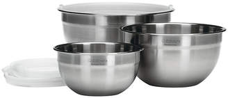 Cuisinart 3-pc. Stainless Steel Mixing Bowl Set with Lids
