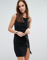 Wal G Zip Pencil Dress