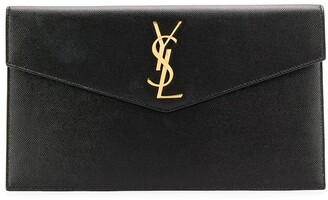 Saint Laurent Medium Monogram Plaque Pouch