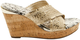 GUESS Bridle Gold Wedge Sandal