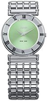 Jowissa Women's J2.021.M Roma Pastell Stainless Steel Green Dial Roman Numeral Watch