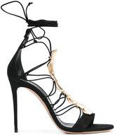 Casadei metallic panel lace-up sandals