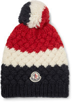 Moncler - Colour-block Knitted Bobble Hat