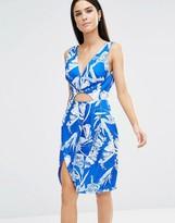 Style Stalker Stylestalker Blue Jasmine V-Neck Dress