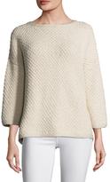 Eileen Fisher Cotton Crewneck Sweater