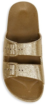 Freedom Moses Glitter Two-Strap Slides
