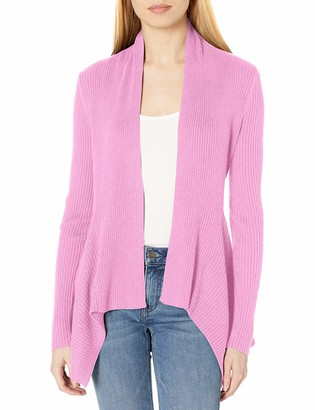 Daily Ritual Women's Standard Ultra-Soft Ribbed Draped Cardigan Sweater