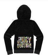 Juicy Couture Girls Logo Velour Sequin Couture Original Jacket