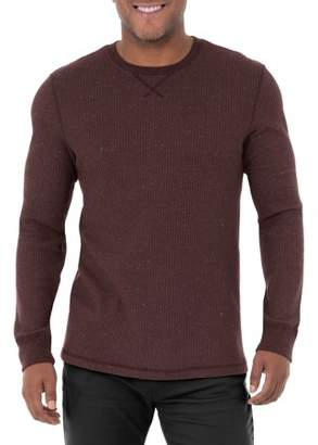 George Big Men's Long Sleeve Thermal Crew Neck Tee, Up To Size 3XL