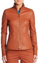 Akris Haley Leather Jacket