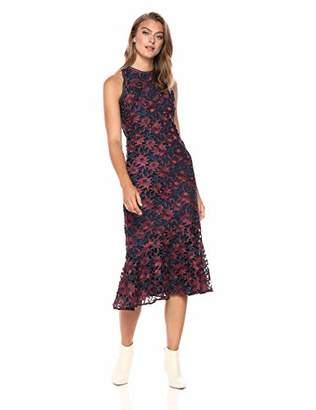 Shoshanna Women's Tupper Sheath Lace Midi Dress