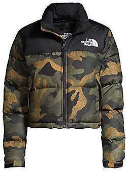The North Face Women's Nuptse Relax-Fit Crop Puffer Jacket