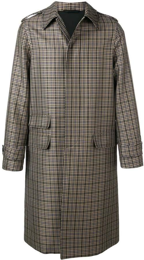 06b3e580e checked single-breasted coat