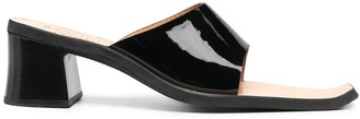 Martine Rose High-Cut Vamp Patent Sandals