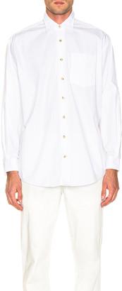 Acne Studios Atlent New Soft Pop Shirt in Optic White   FWRD