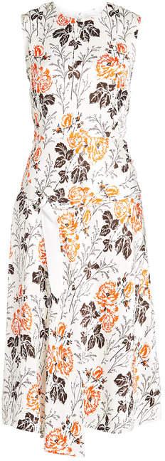 Victoria Beckham Printed Silk-Blend Dress