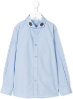 Dolce & Gabbana crown appliqué shirt - kids - Cotton - 4 yrs