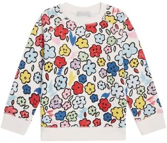 Stella McCartney Cotton Smiling-Flowers Sweatshirt