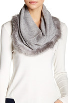 Sofia Cashmere Genuine Fox Fur & Cashmere Snood