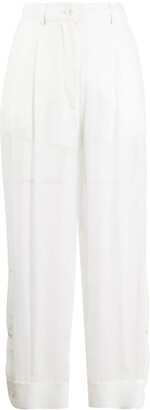 Emilio Pucci High-Rise Sheer Trousers