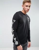Brave Soul Plain Long Sleeved Butterfly Print T-Shirt