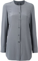 Salvatore Ferragamo collarless button-up blouse - women - Silk - 40