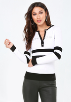 Bebe Logo Sweater Hoodie