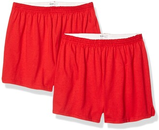 Soffe Women's Authentic Cheer Short 2 Pack red Medium