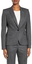 BOSS Women's Jiabina One-Button Stretch Wool Suit Jacket