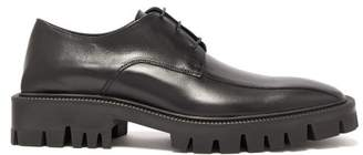 Balenciaga Squared Leather Derby Shoes - Mens - Black