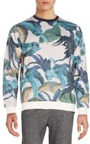 Sovereign Code Skidmore Leaf-Print Sweatshirt