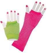Fun World Costumes 80's Neon Fishnet Glove Set