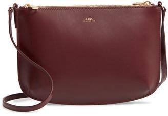 A.P.C. Sarah Calfskin Leather Crossbody Bag