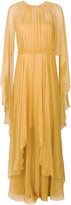 Alberta Ferretti ruffled evening dress