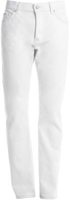 Versace Goldtone Stitched Slim-Fit Jeans