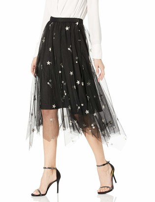 Jenny Yoo Women's Astrid Embroidered Tulle Covent Garden Skirt
